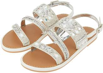 Next Girls Monsoon White Indiana Asymetric Iridescent Sandal