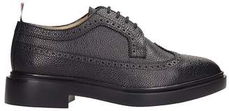 Thom Browne Class Longwing Brogue Black Leather Laces-up