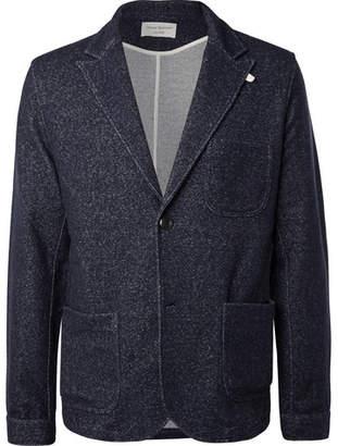 Oliver Spencer Loungewear Navy Birch Mélange Jersey Blazer