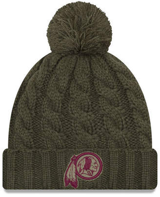 New Era Women's Washington Redskins Salute To Service Pom Knit Hat