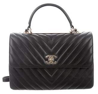79435b62fc38 Chanel 2019 Medium Chevron Trendy CC Top Handle Bag