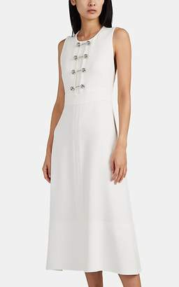 Proenza Schouler Women's Embellished Textured-Crepe Sheath Dress - White