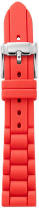 Fossil Silicone 18mm Watch Strap - Coral