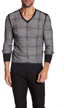 John Varvatos Collection Pattern V-Neck Sweater