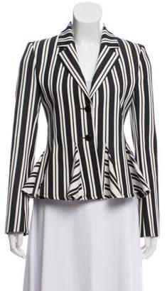 Altuzarra Striped Wool-Blend Blazer Black Striped Wool-Blend Blazer