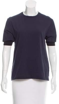 6397 Short Sleeve Crew Neck Top