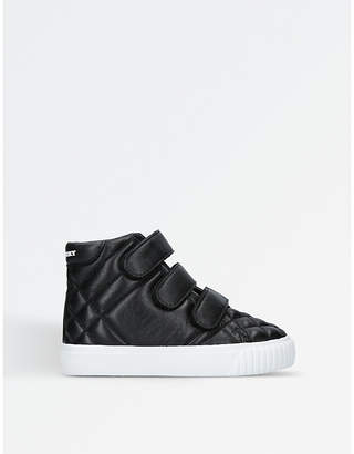 Burberry Sturrock quilted leather high-top trainers 2-5 years