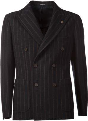 Tagliatore Double-breasted Striped Blazer