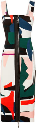 Cushnie Orlena Abstract Print Dress