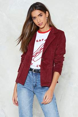 Nasty Gal Whatever Suits You Corduroy Blazer
