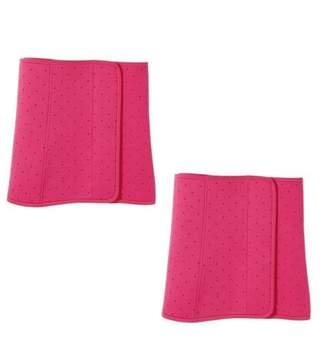 4batyam All Day Slimming Belt Tummy Fat Trimmer Belt Bodyshaper For Men And Women - Pink