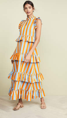 MDS Stripes Soiree Dress