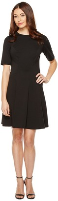 Christin Michaels - Ella Short Sleeve Ponte Dress Women's Dress $74 thestylecure.com