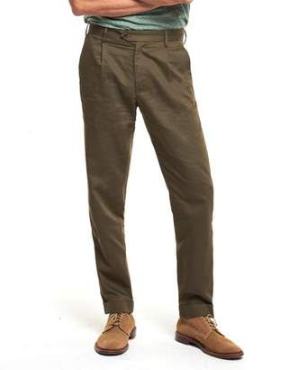Todd Snyder Made in NY Pleated Trouser in Olive