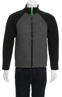 Thierry Mugler Virgin Wool Zip-Up Jacket