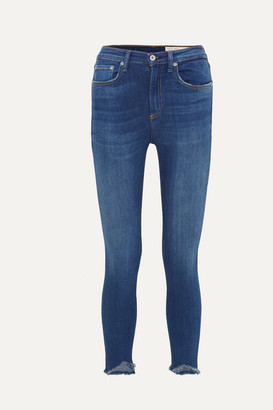 Rag & Bone Cropped High-rise Stretch Skinny Jeans - Mid denim