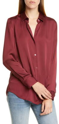 Equipment Essential Long Sleeve Blouse