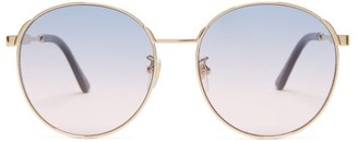 Gucci Round Frame Sunglasses - Womens - Purple