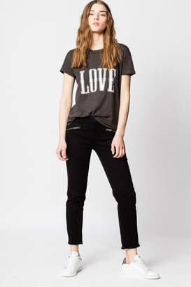 Zadig & Voltaire Walk Chine Overdyed Love T-shirt