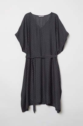 H&M MAMA Patterned Tunic - Black