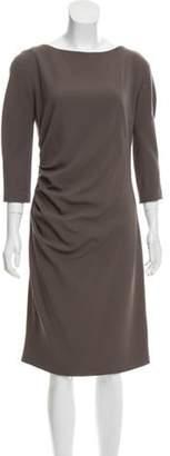 Christian Dior Midi Sheath Dress Olive Midi Sheath Dress