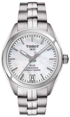 Tissot Women's PR 100 Powermatic 80 Lady COSC Bracelet Watch, 33mm
