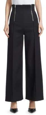 Alexander Wang High-Waist Wide-Leg Pants