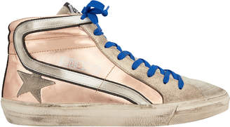 Golden Goose Slide Rose Gold High-Top Sneakers