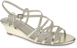 JCPenney I. MILLER I. Miller Fair Metallic Strappy Wedge Sandals