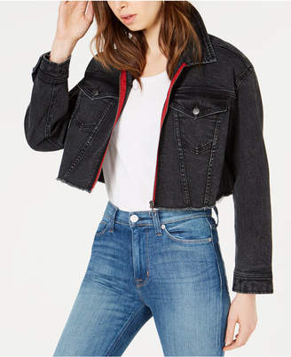 Tinseltown T.d.c. Topson Oversized Cropped Denim Jacket