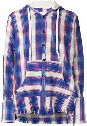 Greg Lauren shirt style buttoned hoodie