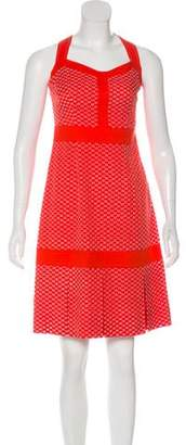 Tory Burch Embroidered Sleeveless Knee-Length Dress