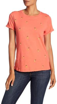 Lucky Brand Printed Pineapple Tee