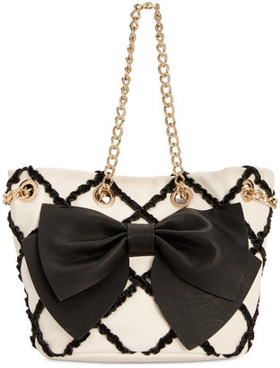 Betsey Johnson Small Bow Tote, a Macy's Exclusive Style $108 thestylecure.com