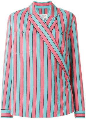 Maison Margiela striped long-sleeve shirt
