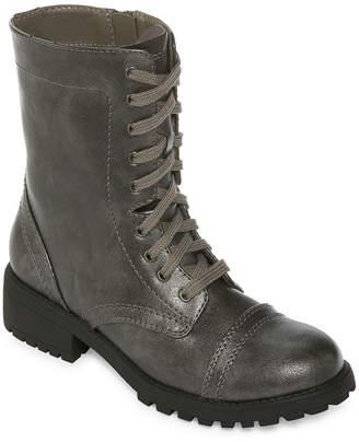 Arizona Womens Jones Combat Block Heel Zip Boots