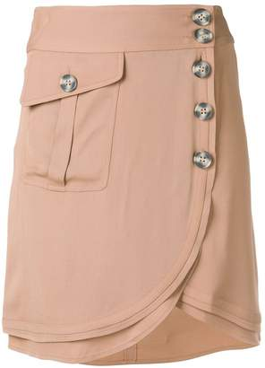 Self-Portrait wrap mini skirt