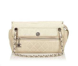 Chanel Vintage Perforated Leather Chain Bag