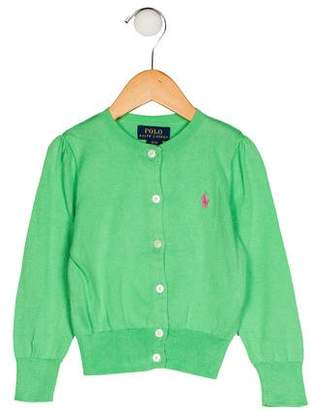 Polo Ralph Lauren Girls' Embroidered Button-Up Cardigan