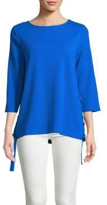 Isaac Mizrahi IMNYC Three-Quarter Sleeve Lace-Up Tunic