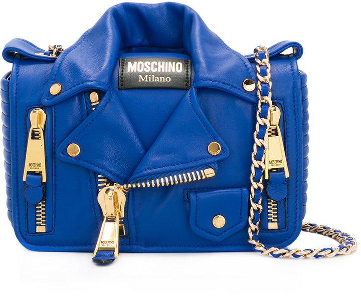 MoschinoMoschino biker jacket shoulder bag