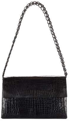 Nancy Gonzalez Medium Crocodile Double Chain Shoulder Bag