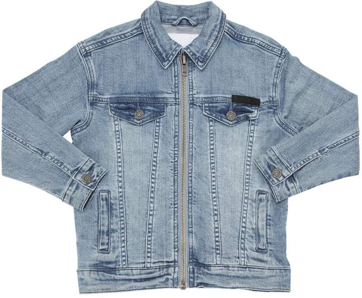 Stretch Cotton Denim Jacket
