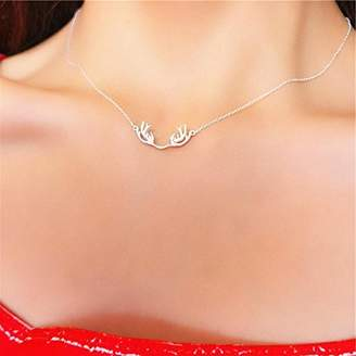 Generic You_have_a_Hot _s_ sterling Silver necklace Pendant _Han_Sen_Department Japanese Korean sweet Little _fresh_ fashion women girl clavicle simple Chain