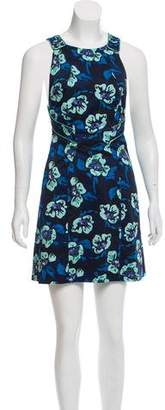 Zac Posen Floral Print Mini Dress