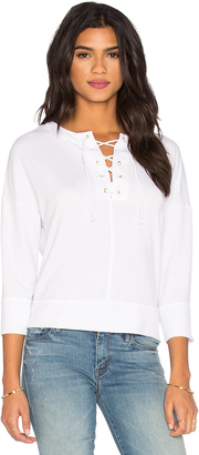 Michael Stars Lace Up Top $138 thestylecure.com