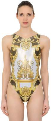 Versace Lycra Shiny Printed Swimsuit