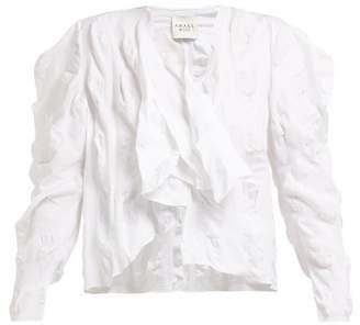 A.W.A.K.E. Mode A.w.a.k.e. Mode - Asymmetric Ruched Cotton Top - Womens - White