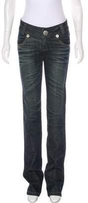 Thomas Wylde Embellished Mid-Rise Jeans