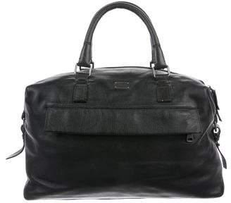 Dolce & Gabbana Grain Leather Logo Satchel
